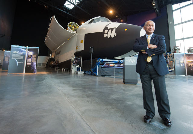 Charles Bolden flew on the space shuttle four times.