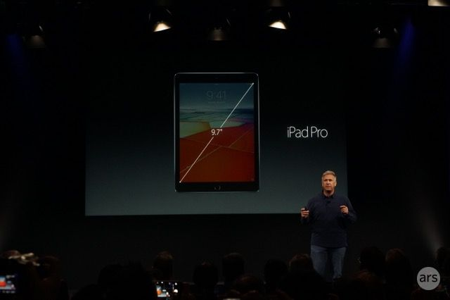 "Behold, the new iPad Pro—now 9.7 inches with ""True Tone"" display"