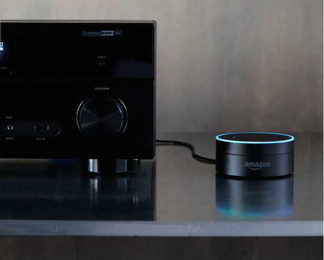 Amazon's new Echo Dot is a mini speaker that brings Alexa to any room