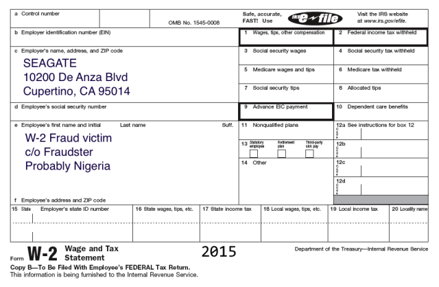 Seagate employees' W-2 forms exposed in another payroll phish ...