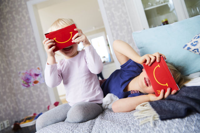 McDonald's is trialling Happy Meals that can turn into VR goggles