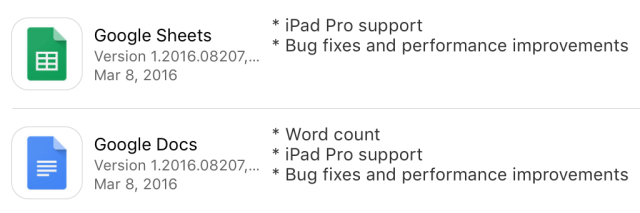 iPad Pro support, yes. Full-fledged iOS 9 support, not so much.