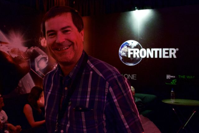 David Braben at E3 in 2015.