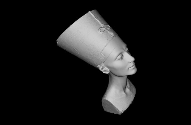 An image taken from the Nefertiti Hack 3-D scan, whose provenance is now more mysterious than ever.