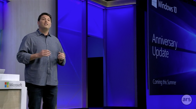 Microsoft's Terry Myerson details the Windows 10 Anniversary Update.