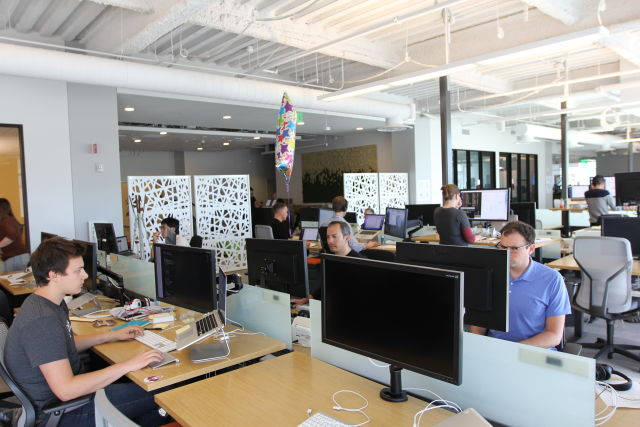 Inside Slack's SF office (though there's a distinct lack of visible emoji in your official office visual, Slackers).