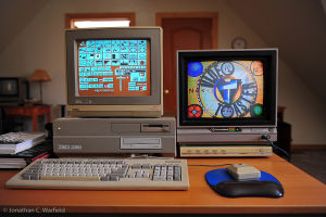 The original Video Toaster running on an Amiga 2000.