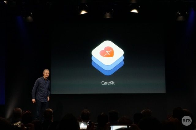 Apple VP Jeff Williams revealing CareKit.