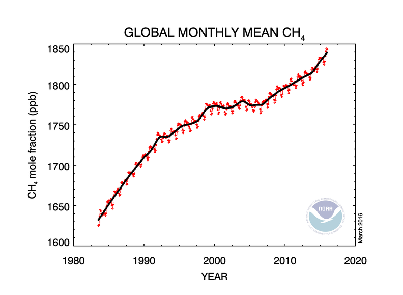 Why Did Methane Stop Increasing, Then Start Again?