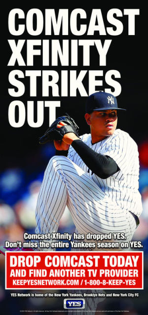 """Drop Comcast today,"""" Yankees network tells baseball fans 
