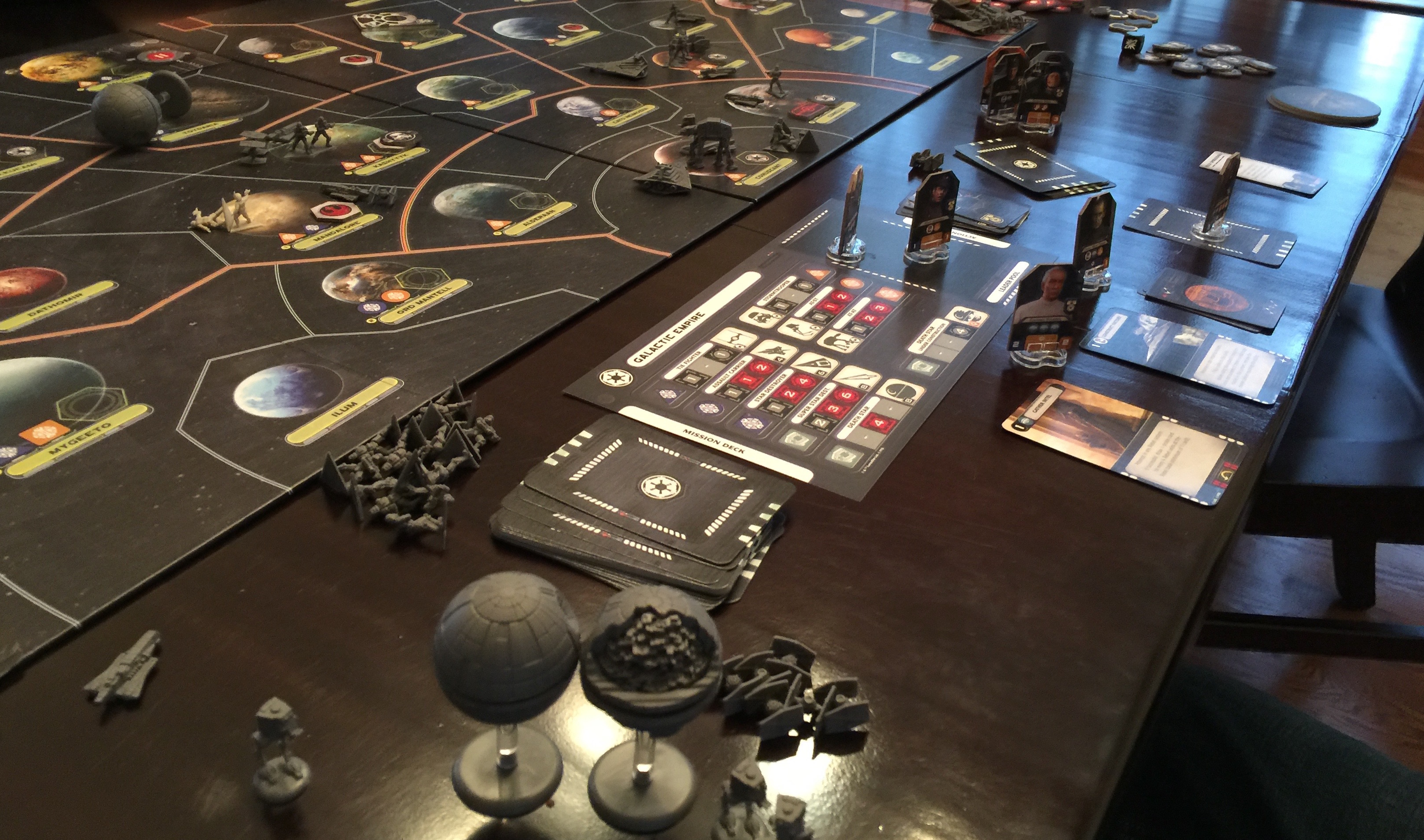 The board in all its glory—Imperial side.