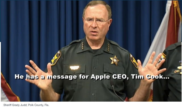 Florida sheriff pledges to arrest CEO Tim Cook if Apple resists crypto cooperation