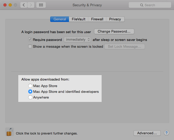 By default, Mac OS X allows applications to run only if they are signed with a valid certificate.