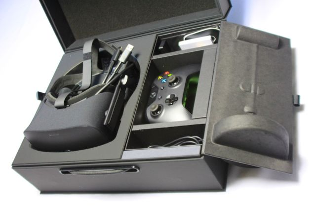 The Xbox One controller and other accessories are hidden in a secret compartment under the tracking camera.