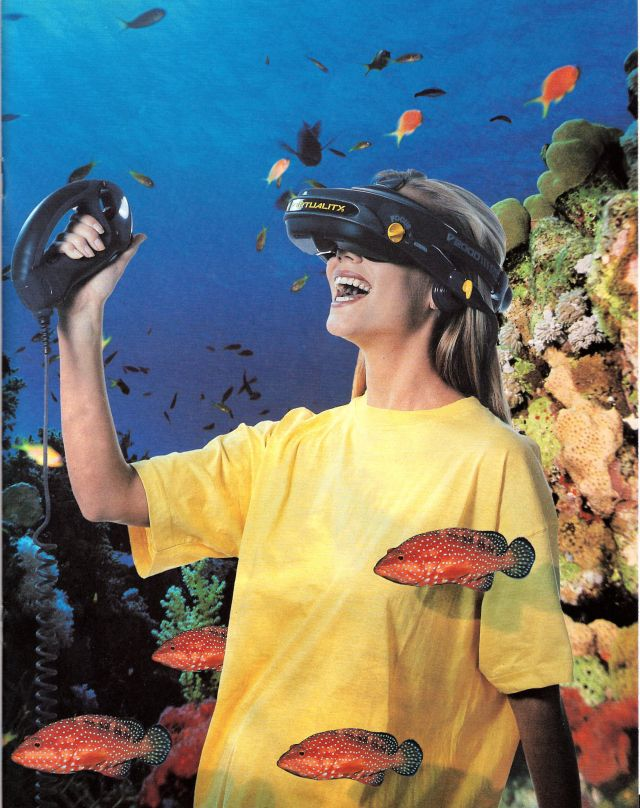Do not be afraid! Though it seems like you are underwater, you are not actually drowning. It is a virtual reality!