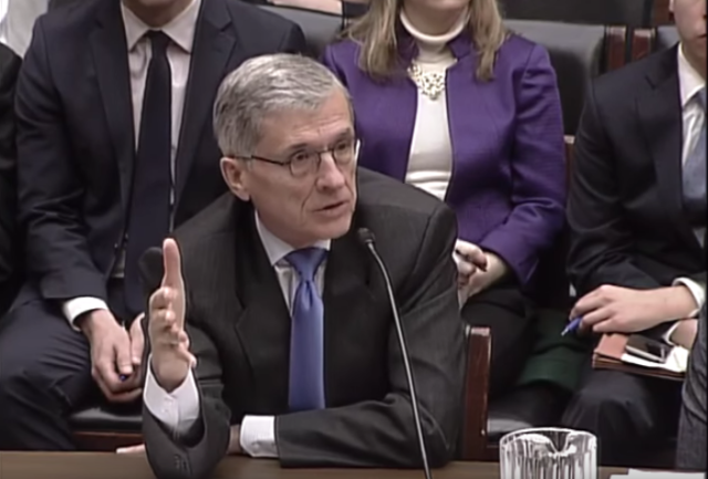 FCC Chairman Tom Wheeler testifying before the House Communications and Technology Subcommittee in March 2016.