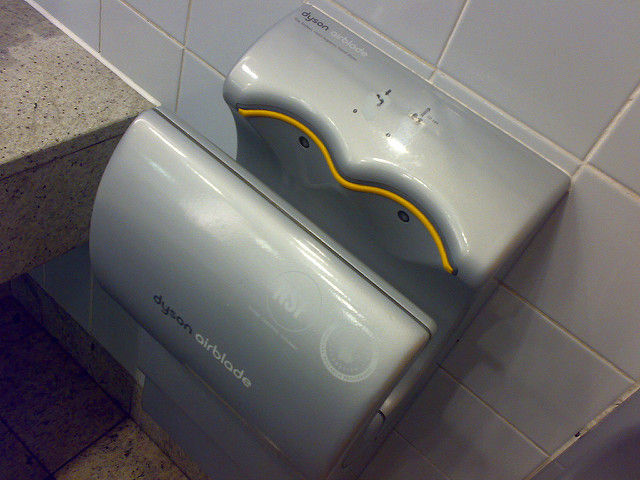 Using A Dyson Hand Dryer Is Like Setting Off A Viral Bomb In A - Bathroom hand dryer germs