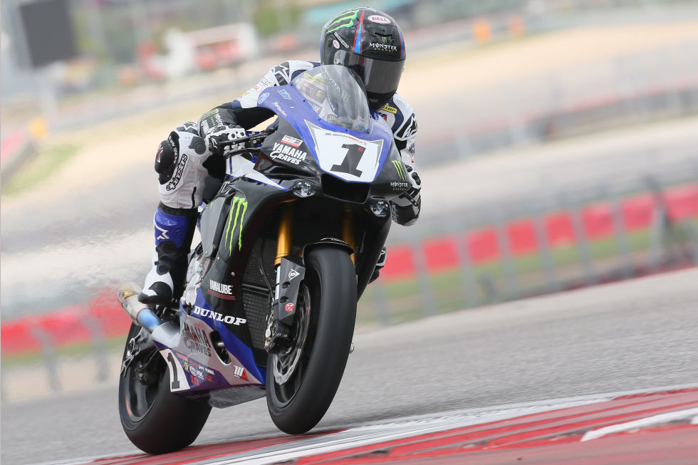 2015 MotoAmerica Superbike champion Cameron Beaubier testing at the Circuit of the Americas in Austin, Texas.