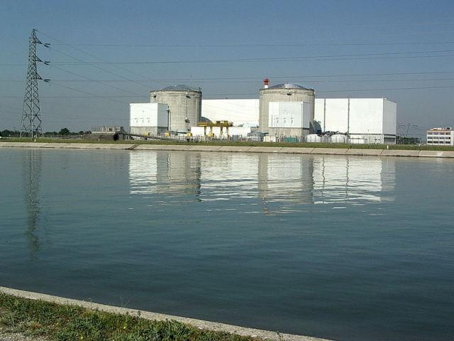 Nuclear power plant Fessenheim, Haut-Rhin, Alsace, France