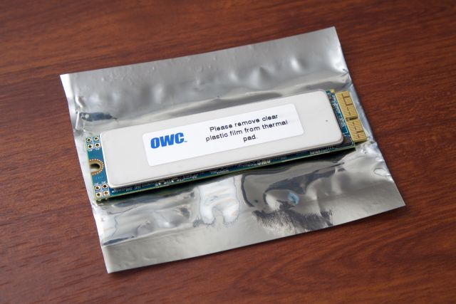 OWC's Aura drive for newer MacBook Airs and Pros.