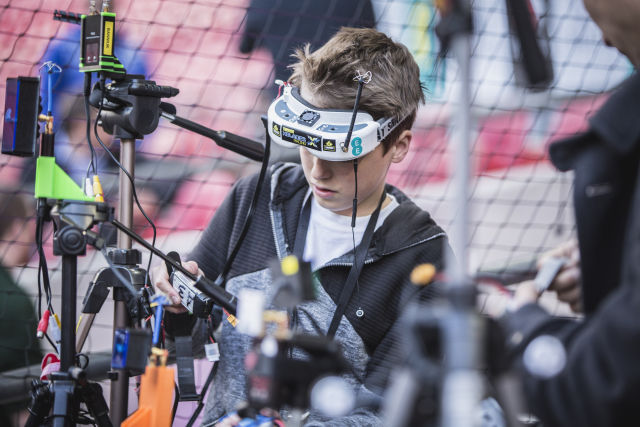 First-person drone racing descends upon Wembley Stadium