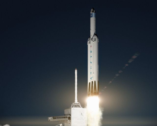 SpaceX intends to launch Dragon spacecraft to Mars with its Falcon Heavy rocket.