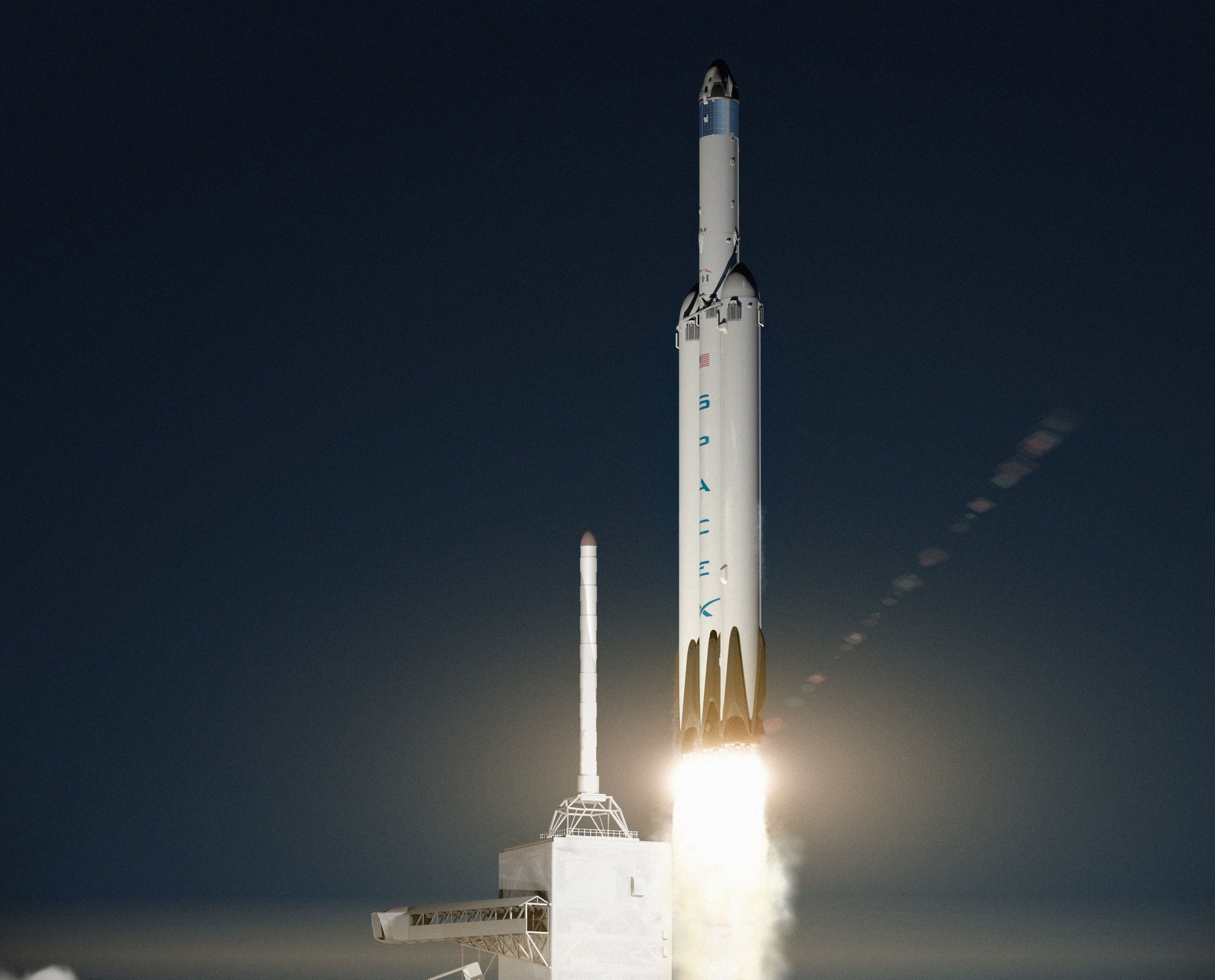 spacex intends to launch dragon spacecraft to mars with its falcon heavy rocket