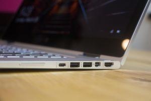 USB Type-C, two USB 3, mini-DisplayPort, and full-size HDMI.