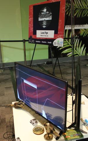 Lucas Pope's modest Obra Dinn demo installation from GDC 2016.