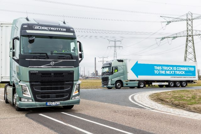 No more two-lane highway headaches? Europe demos semi-autonomous truck platoon