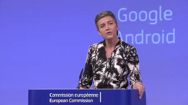 Antitrust chief: Google's restrictions on Android device makers breach EU law
