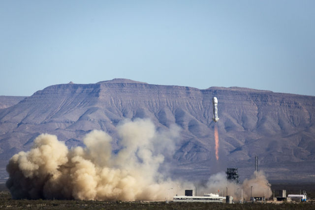 The New Shepard rocket made its third flight on Saturday from West Texas.