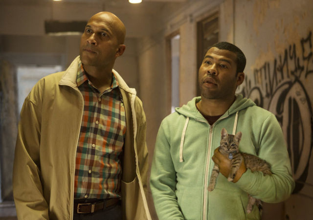 Nerdy cousins Clarence (Keegan-Michael Key) and Rell (Jordan Peele) try to act like gangbangers to rescue Keanu, the preternaturally adorable kitten.
