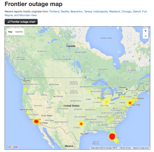 Fresh Frontier Outage Tampa