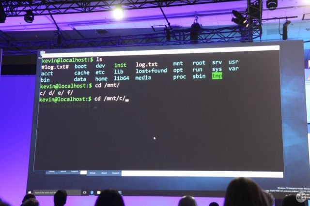 It's bash, it's Windows, it's not a virtual machine.