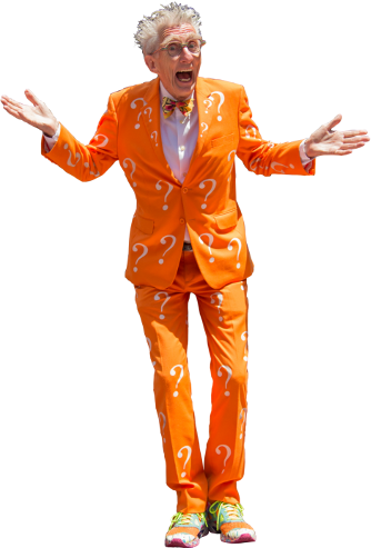"Matthew Lesko, the ""question mark suit guy,"" helped pioneer the ""free government money"" business."