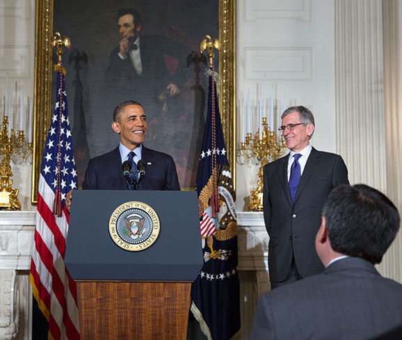 President Obama and FCC Chairman Tom Wheeler.