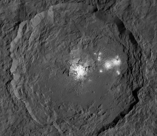 Occator crater on Ceres keeps some shiny secrets.