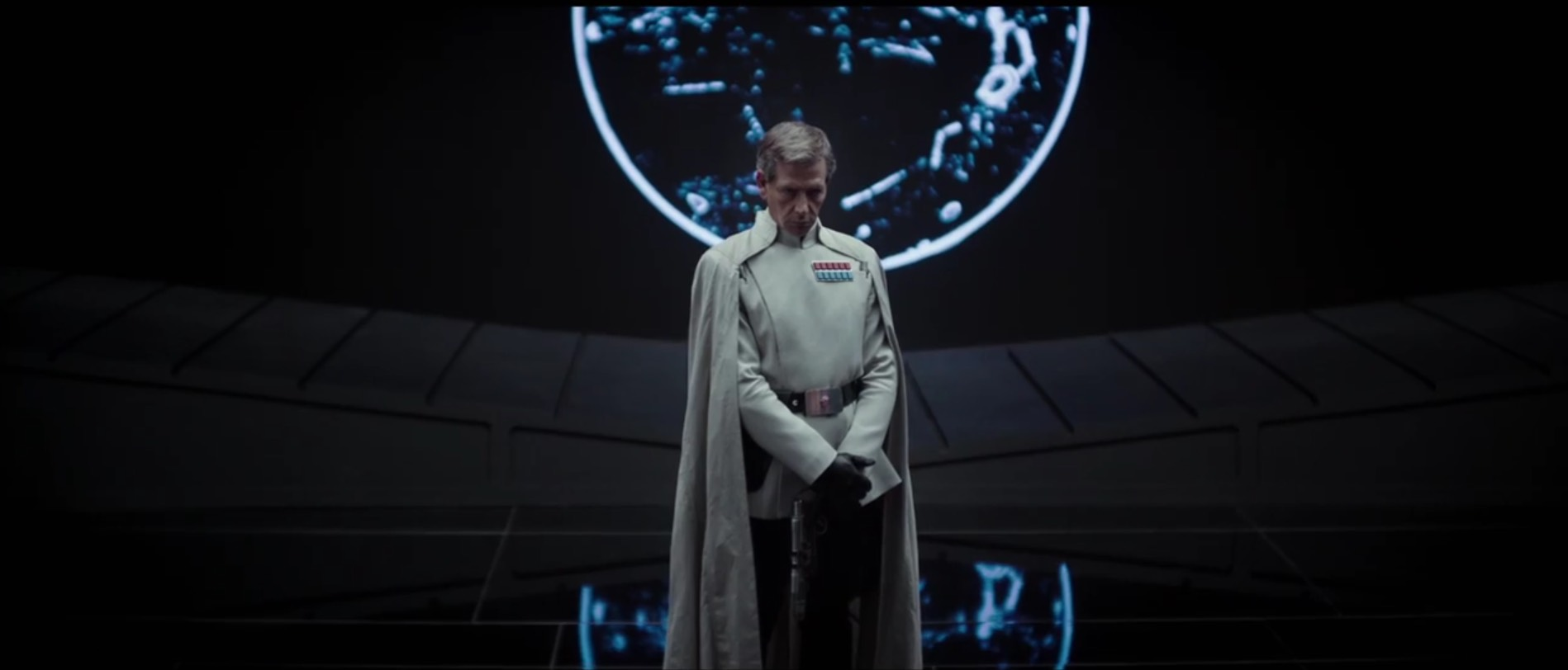 Ben Mendelsohn as an unnamed Imperial officer on the bridge of the Death Star.