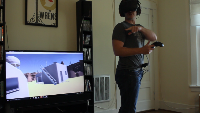 For VR walking, forget treadmills—just stick a Vive wand down your