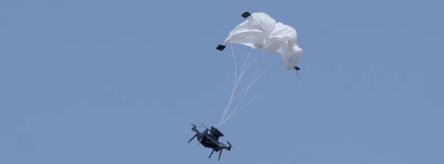 New drone parachute saves falling drones—and the people under them