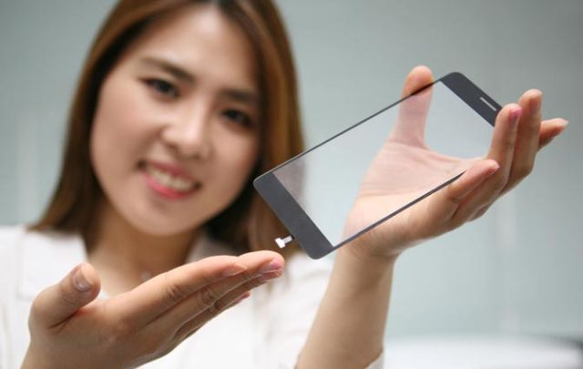 LG's new fingerprint module integrated into smartphone display glass.