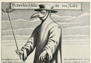 A plague doctor in 17th century Rome