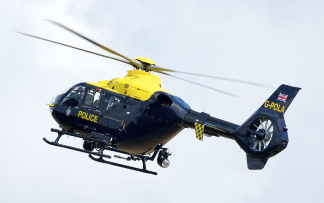 Laser incidents involving police helicopters tripled in 2015