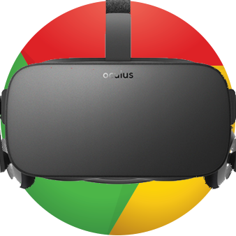 Author's approximation of what VR on Chrome might look like. (A little too literal? Whatever.)