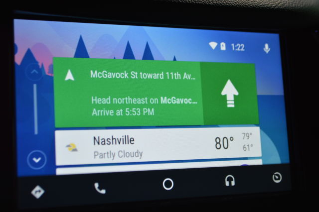 Android Auto's cards view.