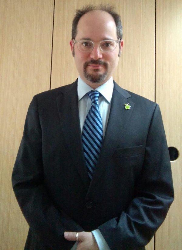 Dan Bornstein's Twitter photo before testifying in <i>Oracle v. Google</i>.