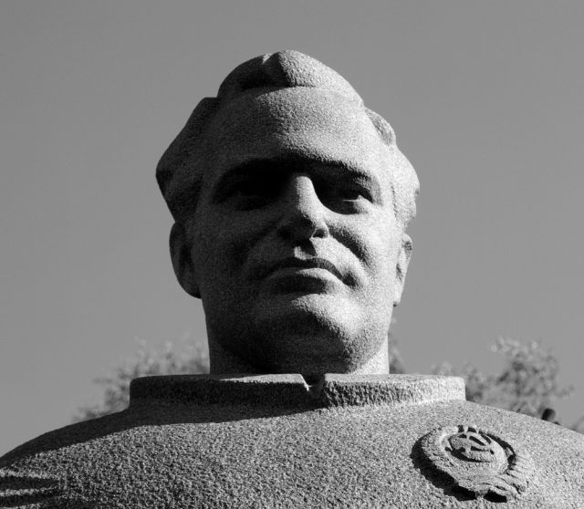 Statue of the late cosmonaut Gherman Titov.