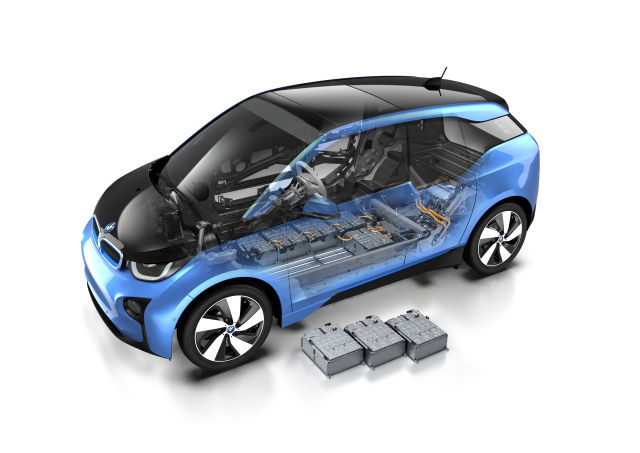 A BMW i3 drawing.