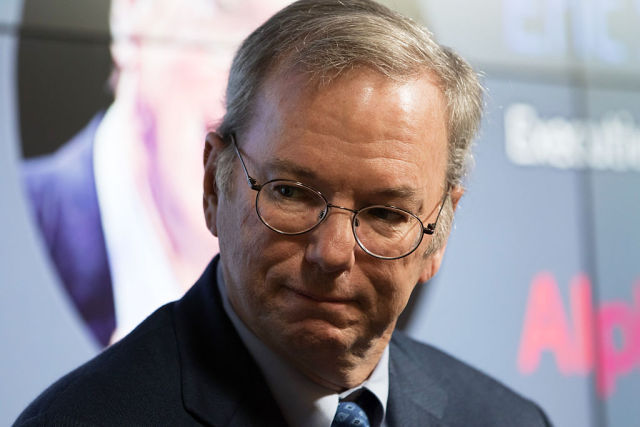 Alphabet Chairman Eric Schmidt at an event in 2015. Schmidt took the stand in San Francisco today in the second Oracle v. Google trial.